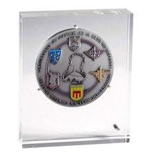 Médaille d'armée dans support altu-glass