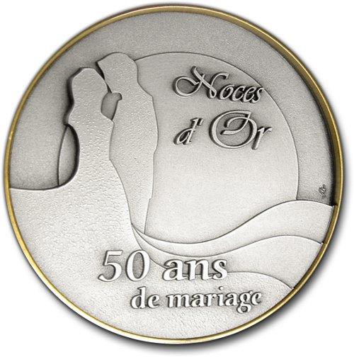 Cadeau 50 Ans De Mariage Medailles Personnalisables