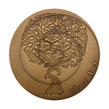 Médaille gravée personnalisée pour un cadeau d'anniversaire des 100 ans