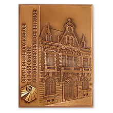 Plaque en bronze estampé 110*80mm