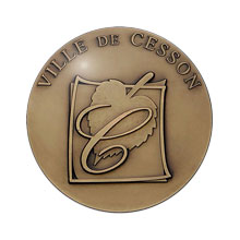 Médaille relief simple Ville de Cesson