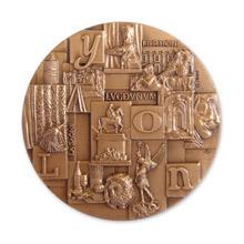 Médaille avec patine en bronze