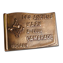 Plaque en bronze de fonderie 270*180mm