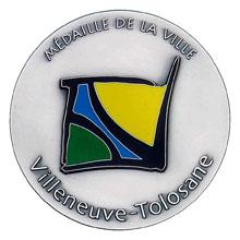 Médaille de ville motif contemporain