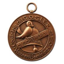 Médaille de confrérie en bronze